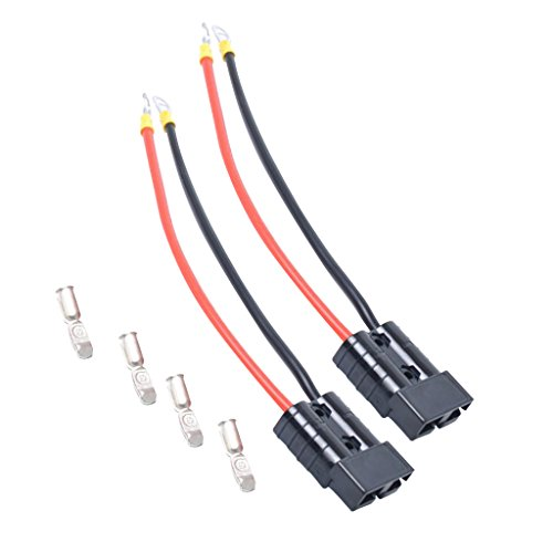 MagiDeal 50 Pezzi Alloggiamento Terminali Connerctor A Batteria Filo 25cm Automobil - Nero