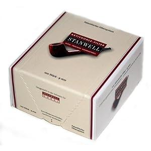 Stanwell 18425 Aktivkohle Filter 9 mm-patentiertes System für höchsten Rauchgenuss-100 er Packung, braun
