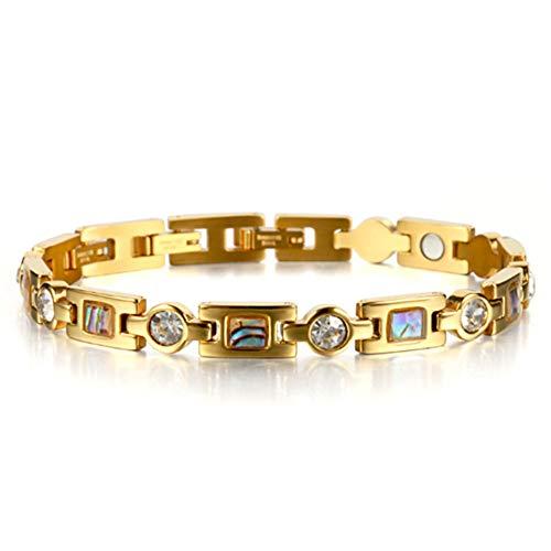 rmband für Damen Gesundheit, Schmuck für Arthritis Schmerzlinderung Und Frauen Silber & Roségold Größe einstellbar mit Geschenkbox, Gold ()
