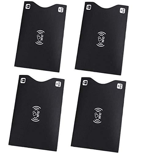 KRS 4xRFP Schwarz Schutzhülle Schutz RFID NFC für Kreditkarten EC Karten RFID Blocker (4xRFP-S)