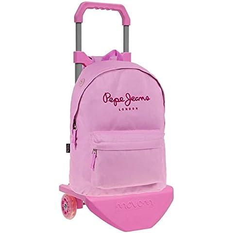 Pepe Jeans Pink Color Mochila Escolar, 21.5 Litros, Color Rosa