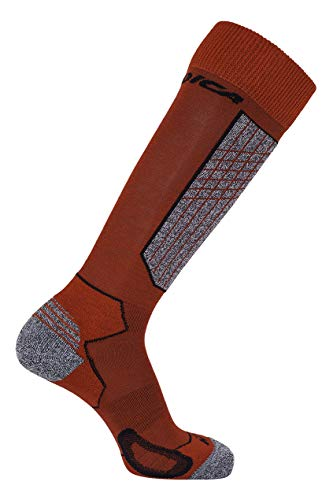 Nordica Herren High Performance Ski Socken, Red/Black, 43-46 -