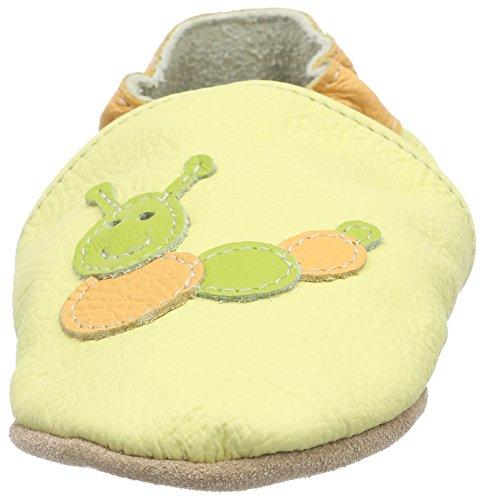 HOBEA-Germany Lauflernschuhe Raupe, Chaussures Bébé quatre pattes (1-10 mois) mixte bébé Blanc Cassé (vanille)