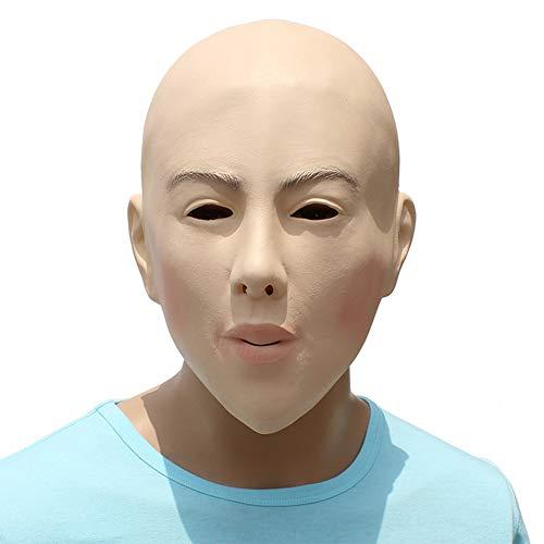 Hlzf Halloween Latex DIY Masquerade Requisiten Bald Beauty-Maske Spielt Gesichtsmaske