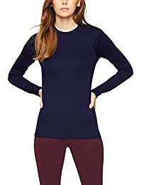 Amazon Brand - Iris & Lilly Women's Thermal Longsleeve Top, Pack of 2