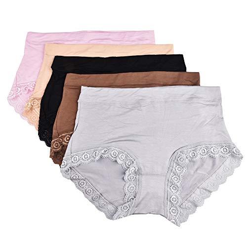 Avondii Damen Hipster Unterwäsche Set (5er Pack) Modal Unterhosen (XXXL(Asia)) -