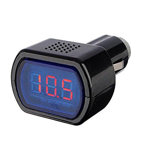 Spannungsanzeige Voltmeter - TOOGOO(R)12-24V LED Zigarettenanzuender KFZ Batterie Tester Spannungsanzeige Voltmeter