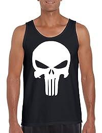 TRVPPY Tank-Top Camiseta sin mangas Modelo The Punisher, para hombre, en muchos colores diferentes