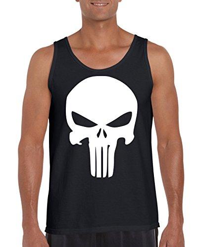 TRVPPY Herren Tank-Top Shirt Modell The Punisher, Grau, M