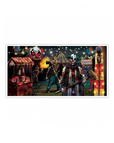 Halloween Banner Horror Zirkus Clowns