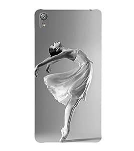 FUSON Young Ballerina Rehearsing Dance 3D Hard Polycarbonate Designer Back Case Cover for Sony Xperia E5 Dual :: Sony Xperia E5