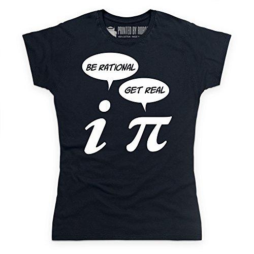Pi Rational T-Shirt, Damen Schwarz