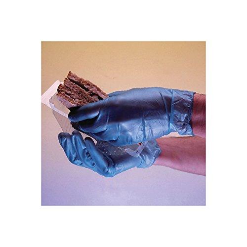 Guanti in vinile blu Shield–LA SCATOLA DI 100–leggermente poudré–GD12