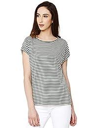 2990827d155b Vero Moda NOS Vmava Plain SS Top Stripe Ga Noos T-Shirt Donna