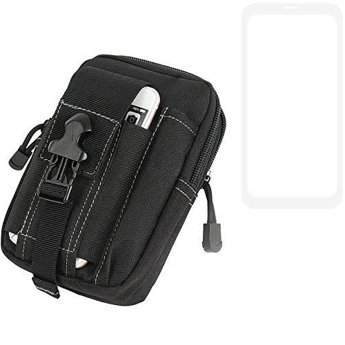 K-S-Trade® Bolsa del Cinturón/Funda para Xiaomi Mi 9 SE, Negro | Compartimientos Adicionales con El Espacio para El Banco De La Energía, Disco Duro, Etc.