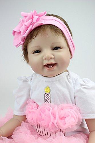 """ZIYIUI 55 cm Realistic Reborn Baby Muñecos Bebé 22 """" Vinyl Newborn Baby Dolls Recién Nacido de Silicona Regalo"""