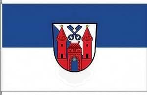 Königsbanner Tischfähnchen Ladenburg - Tischflaggenständer aus Chrom