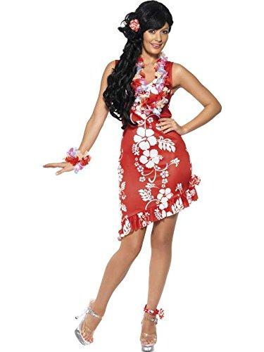 Kostüm Beaute Hawaienne rot Größe (Hawaienne Kostüm)