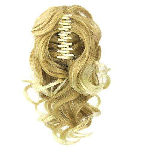 ücken, Clip in Extensions wie Echthaar Schwarz Haarteile komplette Haarverlängerung Gewellt für Karneval Fasching Cosplay Party Kostüm ()