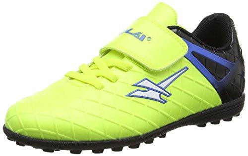 Gola Unisex-Kinder Talos Vx Velcro Fußballschuhe Blau (Volt/black/pro Blue)