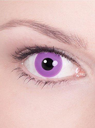 Halloween Karneval Party Motiv farbige Linsen Kontaktlinsen Gothic 1 - Monatslinsen ohne Stärke für Frauen und (Billig Kontakt Linsen)