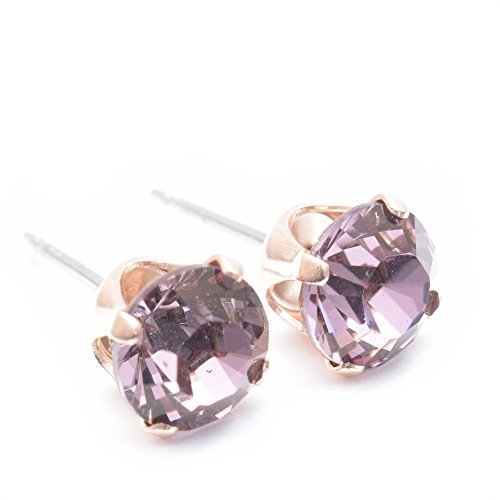 pewterhooter Rose Gold stud earrings expertly made with sparkling Rose Gold crystal from SWAROVSKI®. qEFV6