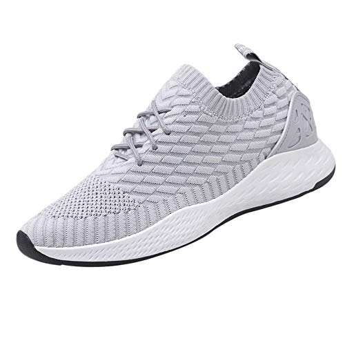 Dorical Fitness Laufschuhe Sportschuhe Schnüren Running Sneaker Netz Gym Schuhe, Ultraleicht Gym Turnschuhe, Herren Sicherheitsschuhe Damen Arbeitsschuhe Turnschuhe Schutzschuhe(Grau,39 EU)