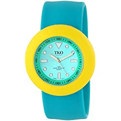 TKO ORLOGI Women's TK588-TYT Teal Rubber Slap Watch