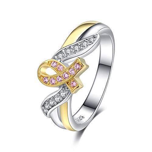 Notrpftk anello in argento 925 con zirconi fede nuziale anello di fidanzamento anello anniversario unico regalo per ragazze donne
