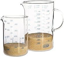 Trendglas Jena - Juego de jarras medidoras (0,5 y 1L)