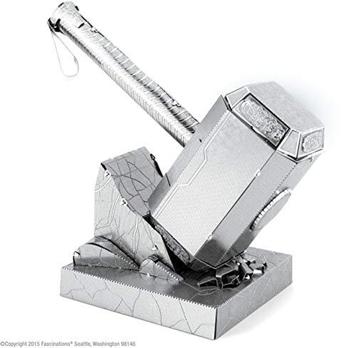 Fascinations Metal Earth MMS320 - 502640, Thor\'s Hammer: Mjolnir, Konstruktionsspielzeug, 2 Metallplatinen, ab 14 Jahren