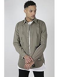 chemise sixth june m2442hsh beige