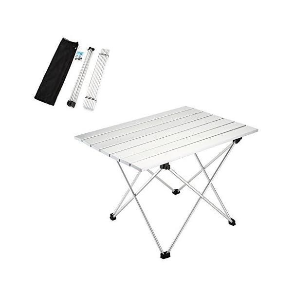 Yahill Campingtisch Alu Klapptisch Aluminium Ideal Reisetisch Falttisch Gartentisch Klappbar Tisch Für Camping Outdoor Picknick Bbq Wandern Reise