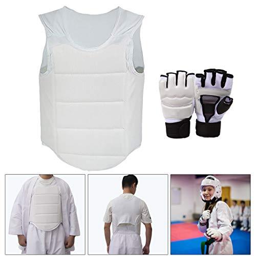 Fansport Chest Guard Body Protector Mit Sparring Handschuhen FüR Karate Taekwondo -