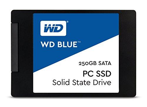 WD Blue 250GB interne SSD SATA 6Gbit/s 2,5 Zoll (7mm) Festplattevon Western Digital. Optimiert für Multitasking und ressourcenintensive Anwendungen. WDS250G1B0A