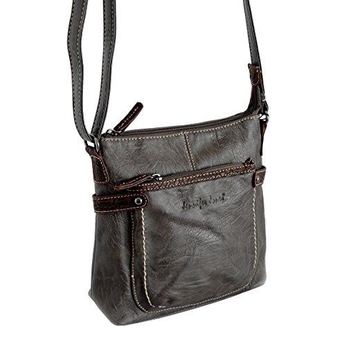 Jennifer Jones piccola borsa da donna präsentiert von ZMOKA® in diversi stili Colori, Olivebraun (marrone) - 0 Olivebraun