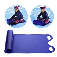 Hualieli Snow Sledge For Kids, Roll Up Snow Toboggan Carpet, Lightweight Rolling Snow Slider For Adults Kids, Portable Flying Sand Grass Carpet, 53 X 18 Inches, Blue
