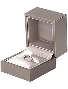 Wicemoon Klein Schmuckkästen PU leder Samt Ring Kasten Geschenk Kaschen Aufbewahrungsbox,Gold