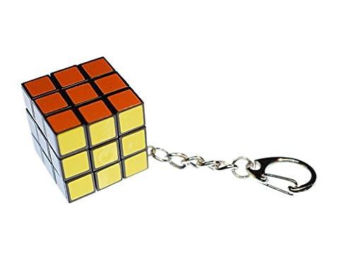 Rubik's Cube Miniblings Key Ring Dice Game 80s Retro