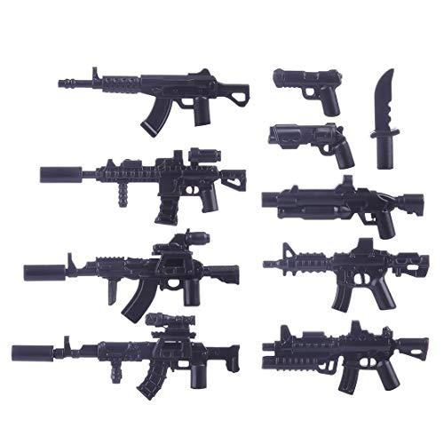 15000P 10St. Custom Waffen Set für SWAT Team Polizei Soldaten Mini Figuren, passen zum Lego