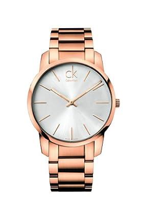 Calvin Klein K2G21646 - Reloj de cuarzo para hombre, con correa de acero inoxidable, color dorado de Calvin Klein