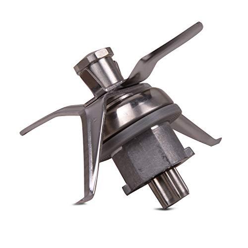 PIESSEONLINE kompatibel mit 4 Klingen und Dichtung für Thermomix Küchenmaschine, Messereinsatz Vorwerk TM 21, Edelstahl, klein