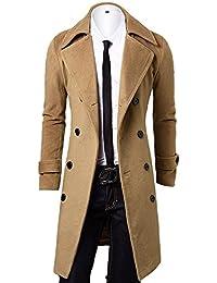 Amazon.it  cappotto lana uomo - Cappotti   Giacche e cappotti ... 7004f8c8a64