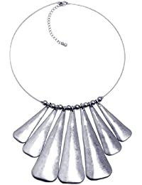 Jodie Rose Distressed Tribal 'Silver' Necklace of length 46cm + 8cm extender