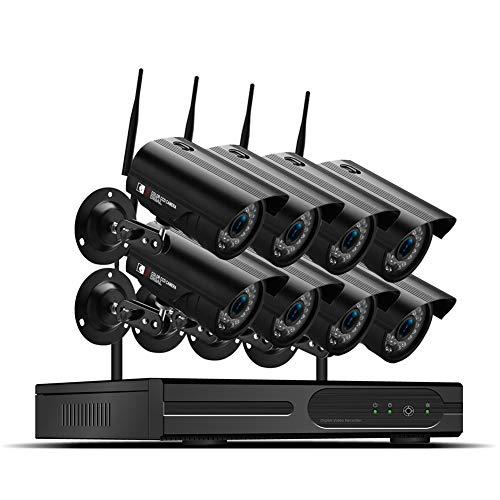 8CH HD Video Überwachungskamera System 1TB Festplatte DVR Recorder mit 8 Outdoor 2 MP Haus Sicherheit Kamera Set, Nachtsicht, P2P,Bewegungserkennung - Mit Wifi-sicherheits-kameras Dvr