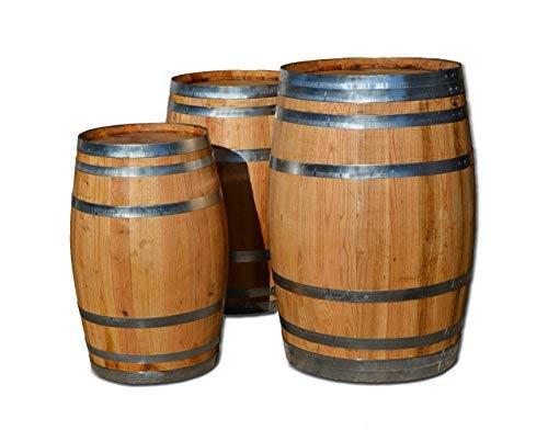150 Liter Holzfass, Fass, Weinfass aus Kastanienholz geöffnet als Regenfass, Regentonne (Fass geölt mit Deckel)