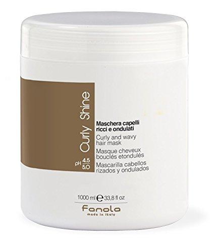 Fanola Mascarilla CURLY SHINE Rizados Ondulados 1000mL 1L - Especial cabellos rizados ondulados - PROFESIONAL