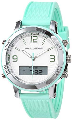 Skechers Damen Analog-Digital Quarz Uhr mit Silikon Armband SR6001