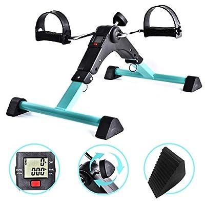 TQ Portable Pedal Exerciser Under Desk Exercise Machine Arm Leg Exercise Peddler Low Impact Exercise Bike for Seniors Elderly from TQ