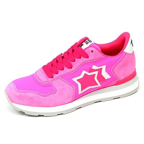 Atlantic Stars D0940 Sneaker Donna Pink Fluo Vega Vintage Effect Shoe Woman   39  f29d0746f25